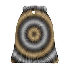 Prismatic Waves Gold Silver Ornament (bell) by Alisyart