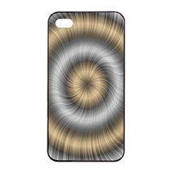 Prismatic Waves Gold Silver Apple Iphone 4/4s Seamless Case (black) by Alisyart