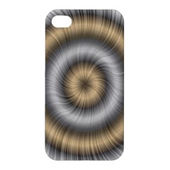 Prismatic Waves Gold Silver Apple Iphone 4/4s Hardshell Case by Alisyart