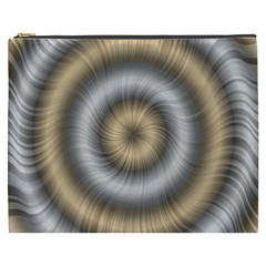 Prismatic Waves Gold Silver Cosmetic Bag (xxxl)