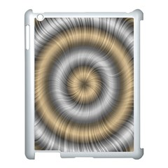 Prismatic Waves Gold Silver Apple Ipad 3/4 Case (white)