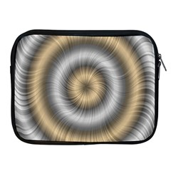Prismatic Waves Gold Silver Apple Ipad 2/3/4 Zipper Cases by Alisyart