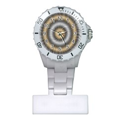 Prismatic Waves Gold Silver Plastic Nurses Watch by Alisyart