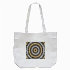 Prismatic Waves Gold Silver Tote Bag (white) by Alisyart