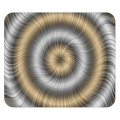 Prismatic Waves Gold Silver Double Sided Flano Blanket (small)  by Alisyart