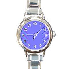 Leftroom Normal Purple Round Italian Charm Watch by Alisyart