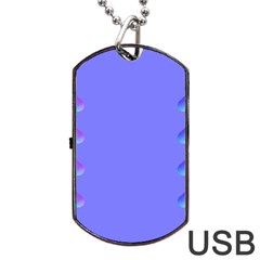 Leftroom Normal Purple Dog Tag Usb Flash (two Sides) by Alisyart
