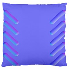 Leftroom Normal Purple Large Flano Cushion Case (one Side) by Alisyart