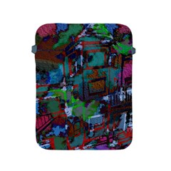 Dark Watercolor On Partial Image Of San Francisco City Mural Usa Apple Ipad 2/3/4 Protective Soft Cases by Simbadda