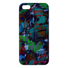 Dark Watercolor On Partial Image Of San Francisco City Mural Usa Iphone 5s/ Se Premium Hardshell Case