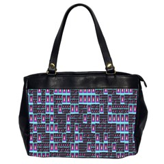 Techno Fractal Wallpaper Office Handbags (2 Sides)  by Simbadda