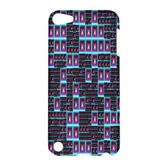 Techno Fractal Wallpaper Apple Ipod Touch 5 Hardshell Case by Simbadda