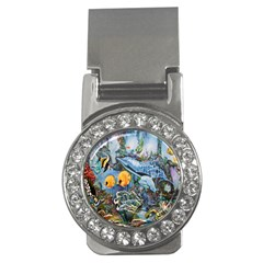 Colorful Aquatic Life Wall Mural Money Clips (cz)