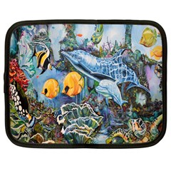 Colorful Aquatic Life Wall Mural Netbook Case (large) by Simbadda