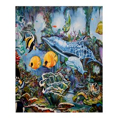 Colorful Aquatic Life Wall Mural Shower Curtain 60  X 72  (medium)  by Simbadda