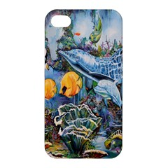 Colorful Aquatic Life Wall Mural Apple Iphone 4/4s Premium Hardshell Case by Simbadda