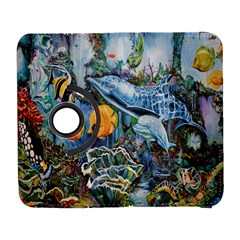 Colorful Aquatic Life Wall Mural Galaxy S3 (flip/folio) by Simbadda