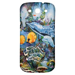 Colorful Aquatic Life Wall Mural Samsung Galaxy S3 S Iii Classic Hardshell Back Case by Simbadda