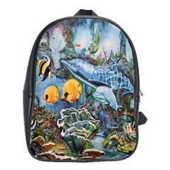 Colorful Aquatic Life Wall Mural School Bags (xl)  by Simbadda