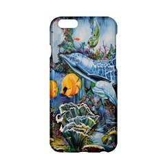 Colorful Aquatic Life Wall Mural Apple Iphone 6/6s Hardshell Case by Simbadda