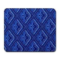 Blue Fractal Background Large Mousepads