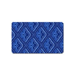 Blue Fractal Background Magnet (name Card) by Simbadda
