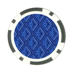 Blue Fractal Background Poker Chip Card Guard (10 Pack) by Simbadda