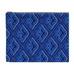 Blue Fractal Background Cosmetic Bag (xl) by Simbadda