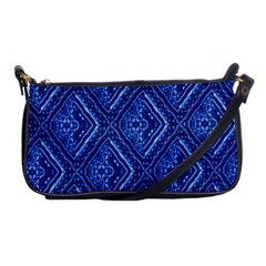 Blue Fractal Background Shoulder Clutch Bags by Simbadda