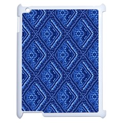 Blue Fractal Background Apple Ipad 2 Case (white) by Simbadda