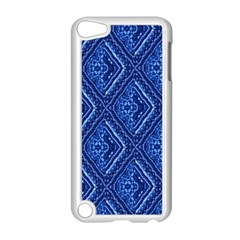 Blue Fractal Background Apple Ipod Touch 5 Case (white) by Simbadda