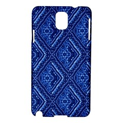 Blue Fractal Background Samsung Galaxy Note 3 N9005 Hardshell Case by Simbadda
