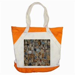 Multi Color Stones Wall Texture Accent Tote Bag by Simbadda