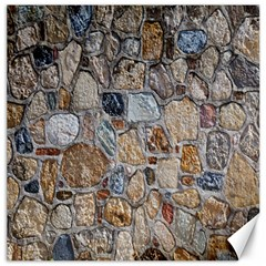 Multi Color Stones Wall Texture Canvas 20  X 20   by Simbadda
