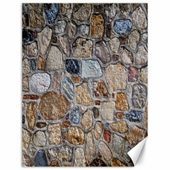 Multi Color Stones Wall Texture Canvas 18  X 24   by Simbadda