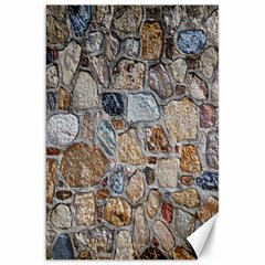 Multi Color Stones Wall Texture Canvas 20  X 30   by Simbadda