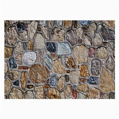 Multi Color Stones Wall Texture Large Glasses Cloth (2 Side) by Simbadda