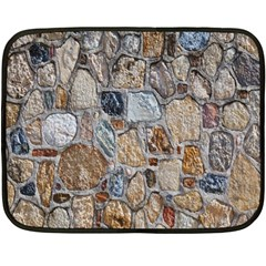 Multi Color Stones Wall Texture Double Sided Fleece Blanket (mini)