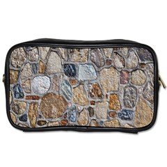 Multi Color Stones Wall Texture Toiletries Bags 2 Side by Simbadda