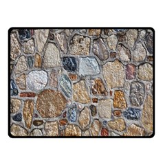 Multi Color Stones Wall Texture Fleece Blanket (small)