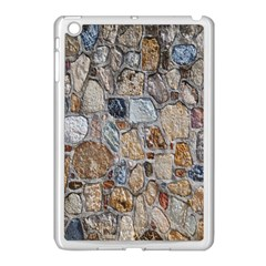 Multi Color Stones Wall Texture Apple Ipad Mini Case (white) by Simbadda