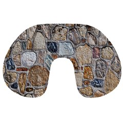 Multi Color Stones Wall Texture Travel Neck Pillows