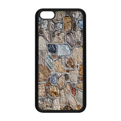 Multi Color Stones Wall Texture Apple Iphone 5c Seamless Case (black)