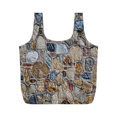 Multi Color Stones Wall Texture Full Print Recycle Bags (m)  by Simbadda