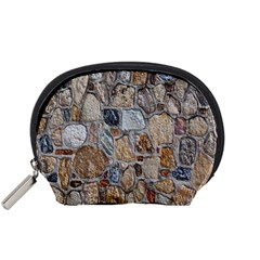 Multi Color Stones Wall Texture Accessory Pouches (small)  by Simbadda