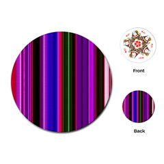 Fun Striped Background Design Pattern Playing Cards (round)  by Simbadda