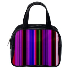 Fun Striped Background Design Pattern Classic Handbags (one Side) by Simbadda