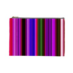 Fun Striped Background Design Pattern Cosmetic Bag (large)  by Simbadda