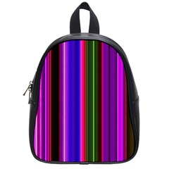 Fun Striped Background Design Pattern School Bags (small)  by Simbadda