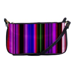 Fun Striped Background Design Pattern Shoulder Clutch Bags by Simbadda